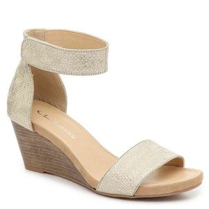 CL by Laundry | Hot Zone Gold Wedge Sandal